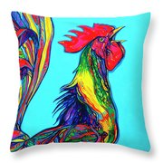 Rooster Crow Throw Pillow