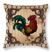 Rooster I Throw Pillow