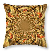 Crowing Rooster Kaleidoscope Throw Pillow