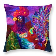 Rooster On The Horizon Throw Pillow