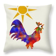 Rooster Pattern Art Throw Pillow