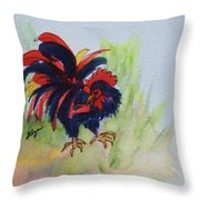 Rooster - Red And Black Rooster Throw Pillow