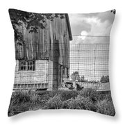 Rooster Turf Monochrome Throw Pillow