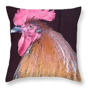 Rooster Watercolor Throw Pillow