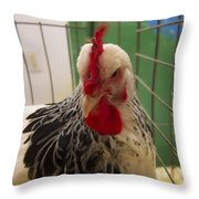 Rooster With Attitude Throw Pillow