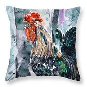 Rooster  Throw Pillow by Zaira Dzhaubaeva