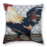 Rooster1 Throw Pillow