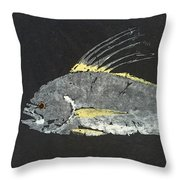 Gyotaku Roosterfish Throw Pillow