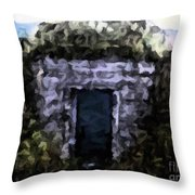 Root Cellar Abstraction Throw Pillow