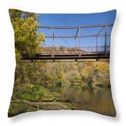 Root River Autumn 3 Throw Pillow