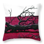 Rooted In Red Throw Pillow