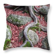 Roots Throw Pillow by Edward Fielding