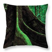 Roots Of A Giant Tree, Daintree Throw Pillow