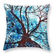 Roots To Branches II Throw Pillow