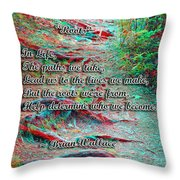 Roots - Use Red/cyan Filtered 3d Glasses Throw Pillow