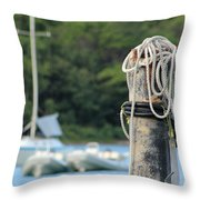 Rope And Knot Throw Pillow