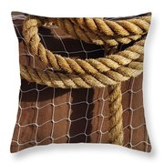 Rope And Net Throw Pillow