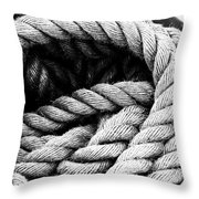 Rope Black And White Throw Pillow