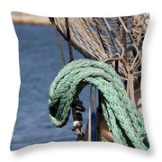 Ropes And Rigging Throw Pillow