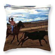 Roping Throw Pillow