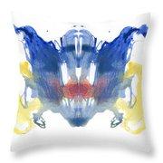 Rorschach Type Inkblot Throw Pillow