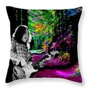Rockin' On Mt Tamalpais Throw Pillow