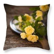 Rosa Banksiae Lutea Throw Pillow