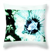Rosa Sinensis Abstract Throw Pillow