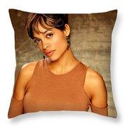 Rosario Dawson  Throw Pillow