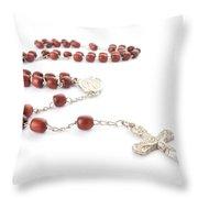 Rosary Beads Throw Pillow