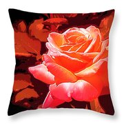 Rose 1 Throw Pillow