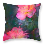 Rose 194 Throw Pillow by Pamela Cooper