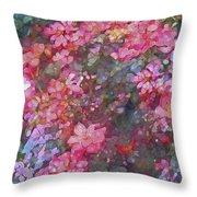 Rose 199 Throw Pillow by Pamela Cooper