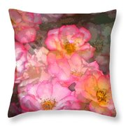 Rose 210 Throw Pillow by Pamela Cooper
