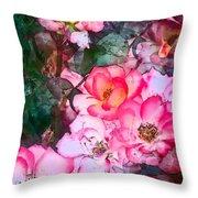 Rose 239 Throw Pillow