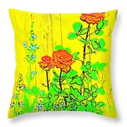 Rose 9 Throw Pillow