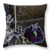 Rose Aglow Throw Pillow