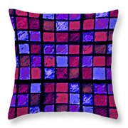 Rose And Purple Sudoku Throw Pillow