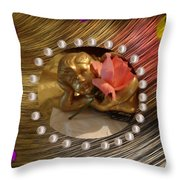 Rose Angel Throw Pillow
