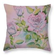 Rose Bloom Throw Pillow