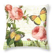 Rose Blush-a Throw Pillow