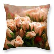 Rose Blush Throw Pillow