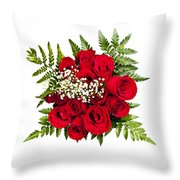 Rose Bouquet From Above Throw Pillow