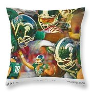 Rose Bowl Collage Throw Pillow