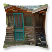Rose Cabin At The Holzwarth Historic Site Throw Pillow