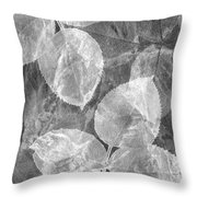 Rose Clippings Mural Wall 2 - Black And White Throw Pillow