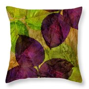 Rose Clippings Mural Wall Throw Pillow