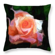 Rose Colored Throw Pillow