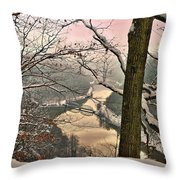 Rose Colored Morning Throw Pillow