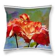 Rose Colours Throw Pillow